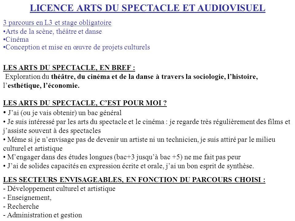 LES ARTS DU SPECTACLE, EN BREF : Exploration du théâtre, du cinéma et de la danse à travers la sociologie, lhistoire, lesthétique, léconomie. LES ARTS