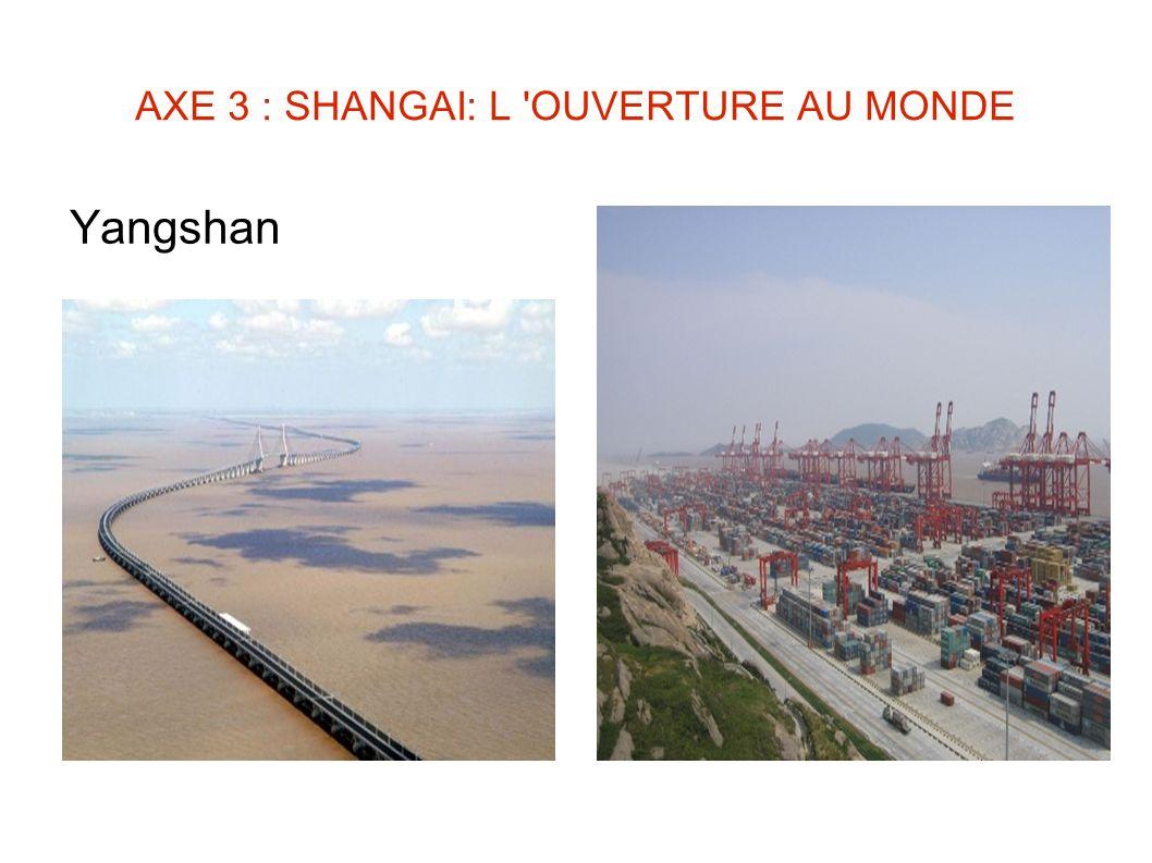 AXE 3 : SHANGAI: L 'OUVERTURE AU MONDE Yangshan
