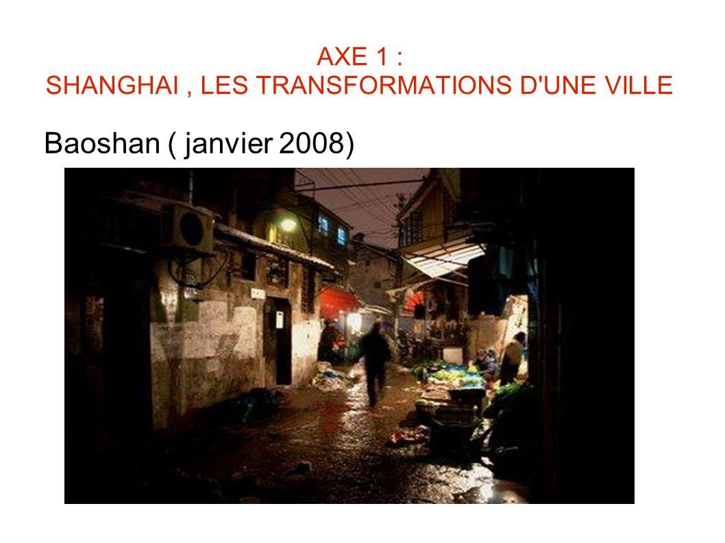 AXE 1 : SHANGHAI, LES TRANSFORMATIONS D'UNE VILLE Baoshan ( janvier 2008)