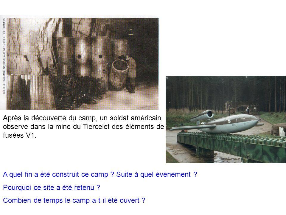 A quel fin a été construit ce camp ? Suite à quel évènement ? Pourquoi ce site a été retenu ? Combien de temps le camp a-t-il été ouvert ? Après la dé