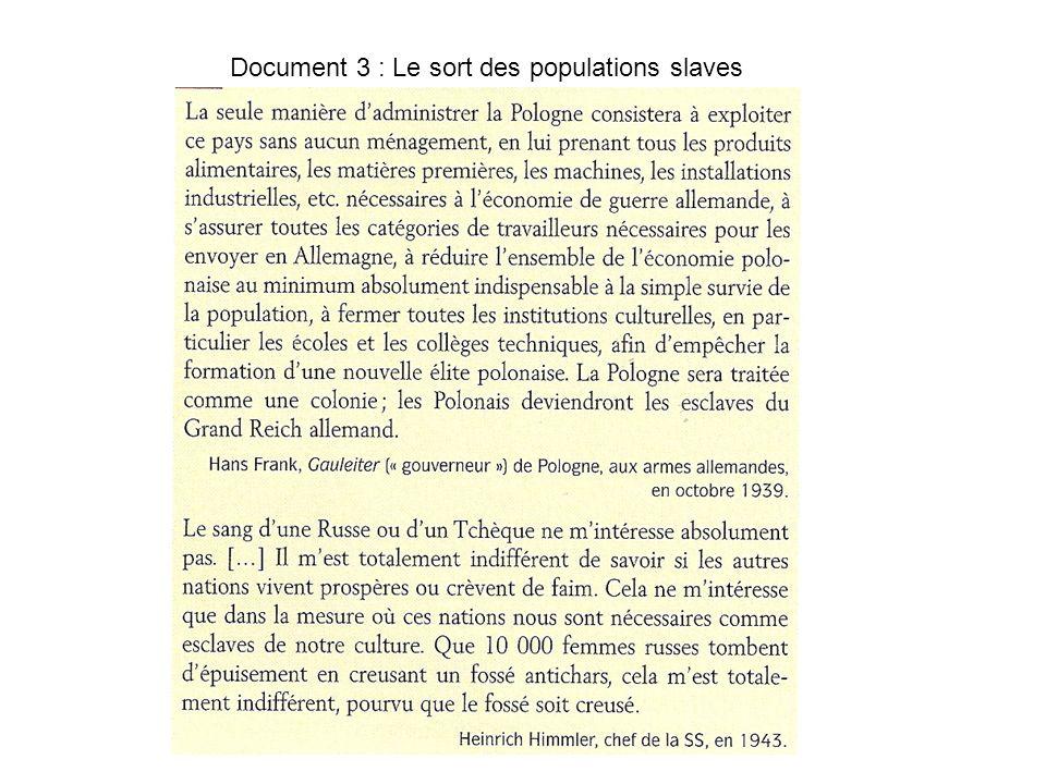 Document 3 : Le sort des populations slaves