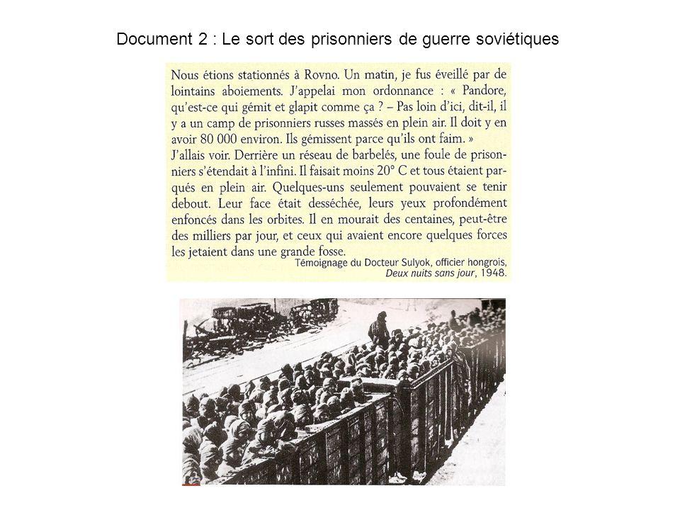 Document 2 : Le sort des prisonniers de guerre soviétiques