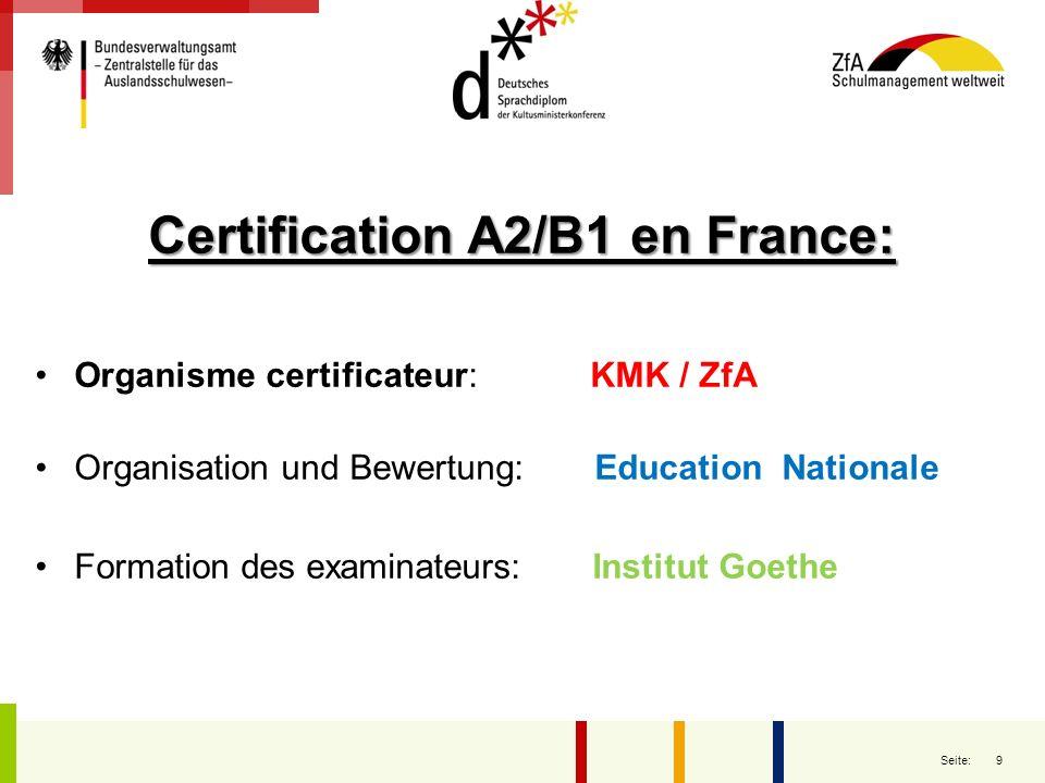 10 Seite: La certification, adossée au Cadre Européen de Référence en Langues, permet dattester des niveaux A (utilisateur élémentaire), B (utilisateur indépendant) et C (utilisateur expérimenté) : DSD A2/B1 DSD B2/C1 Justine Reichel-Jelic, Hans-Peter Jacht