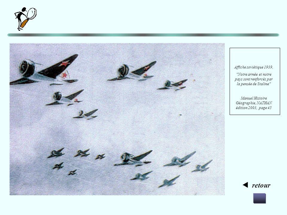 Analyse de lhistorien Analyse de lartiste Allons plus loin « Notre armée et notre pays sont renforcés par la pensée de Staline. » Affiche de 1939 ZOOM