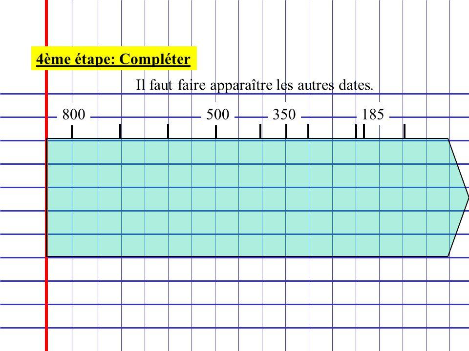 800 4ème étape: Compléter Il faut faire apparaître les autres dates. 500350185