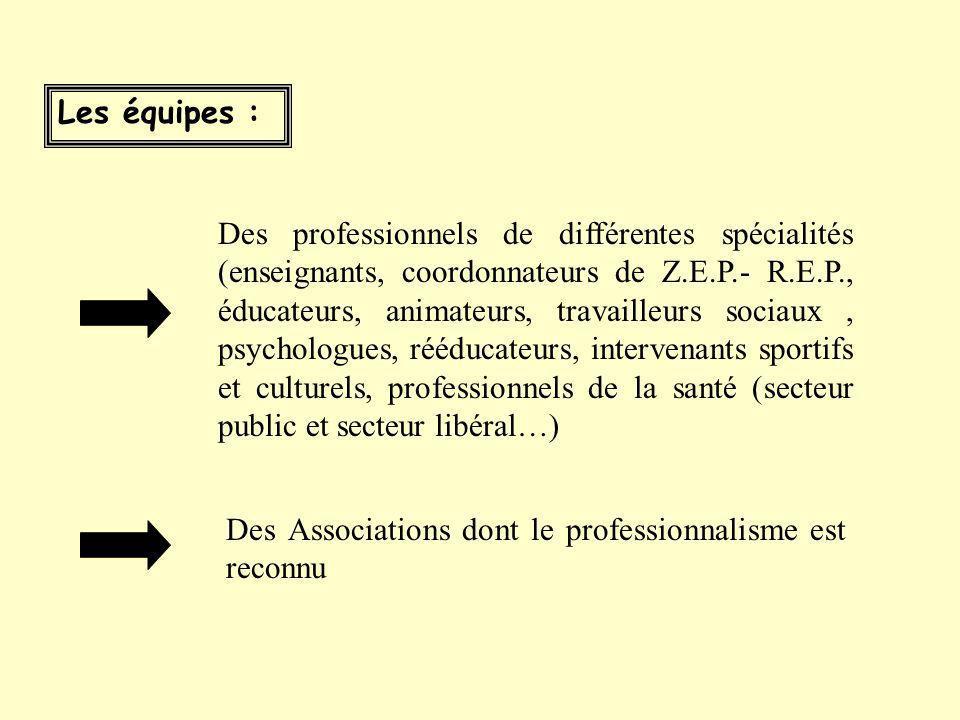 Les Equipes Pluridisciplinaires de Soutien ne se substituent pas aux dispositifs existants (C.E.L., P.E.L., C.L.A.S., Ecole ouverte, Contrat Temps lib
