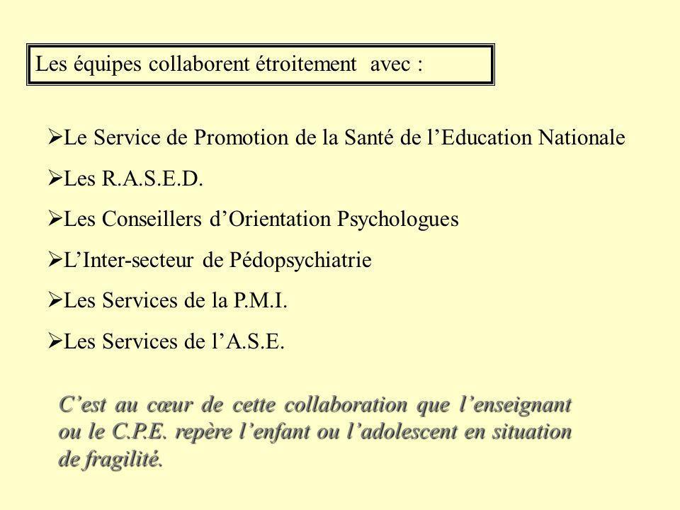 Les équipes : Des professionnels de différentes spécialités (enseignants, coordonnateurs de Z.E.P.- R.E.P., éducateurs, animateurs, travailleurs socia