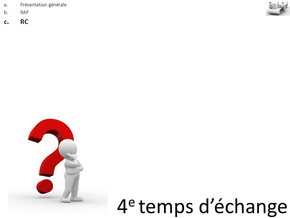 4 e temps déchange a.Présentation générale b.RAP c.RC
