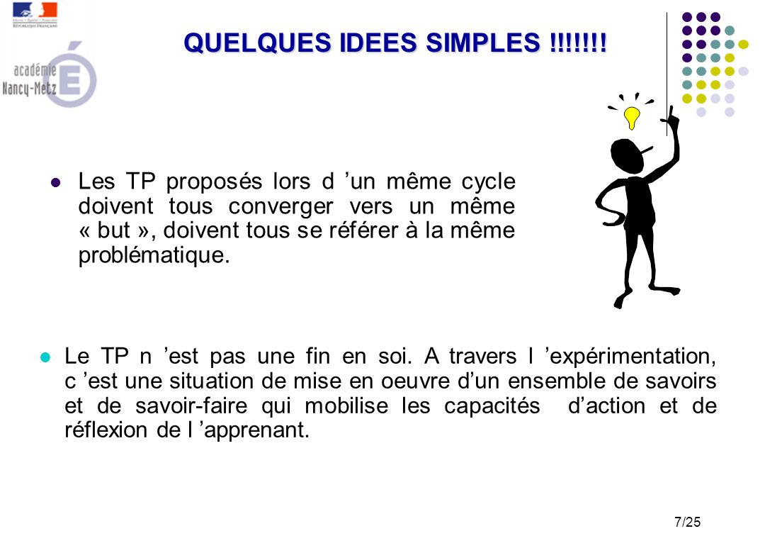 QUELQUES IDEES SIMPLES !!!!!!.