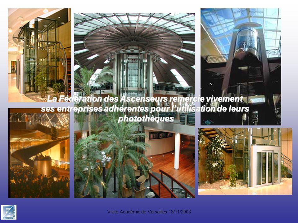 La Fédération des Ascenseurs remercie vivement ses entreprises adhérentes pour lutilisation de leurs photothèques photothèques