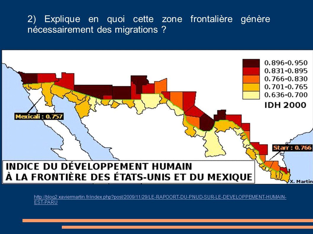 2) Explique en quoi cette zone frontalière génère nécessairement des migrations ? http://blog2.xaviermartin.fr/index.php?post/2009/11/29/LE-RAPOORT-DU