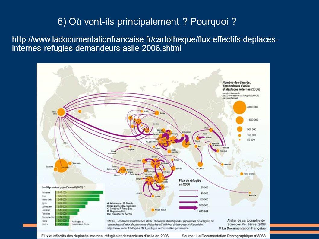 http://www.ladocumentationfrancaise.fr/cartotheque/flux-effectifs-deplaces- internes-refugies-demandeurs-asile-2006.shtml 6) O ù vont-ils principaleme