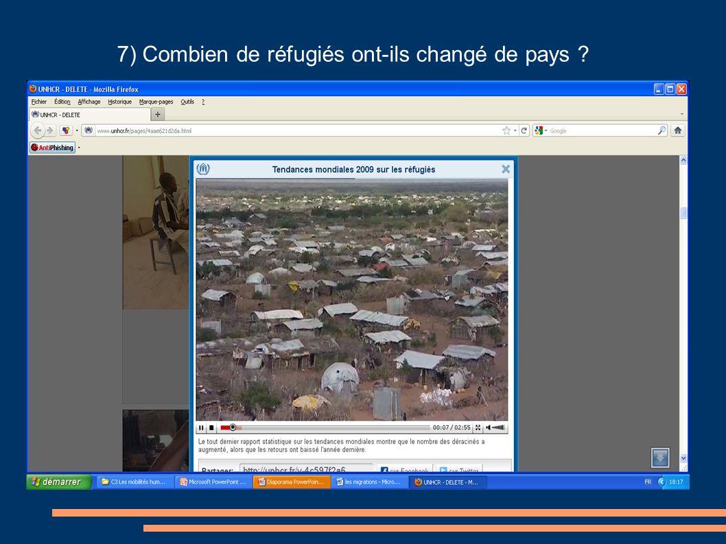7) Combien de réfugiés ont-ils changé de pays ?