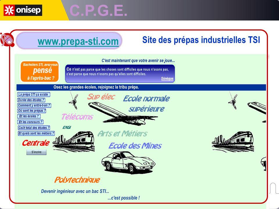 C.P.G.E. Site des prépas industrielles TSI www.prepa-sti.com