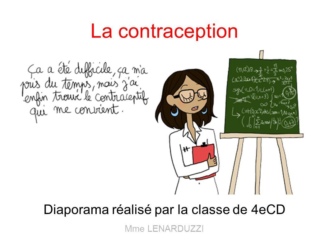 La contraception Diaporama réalisé par la classe de 4eCD Mme LENARDUZZI