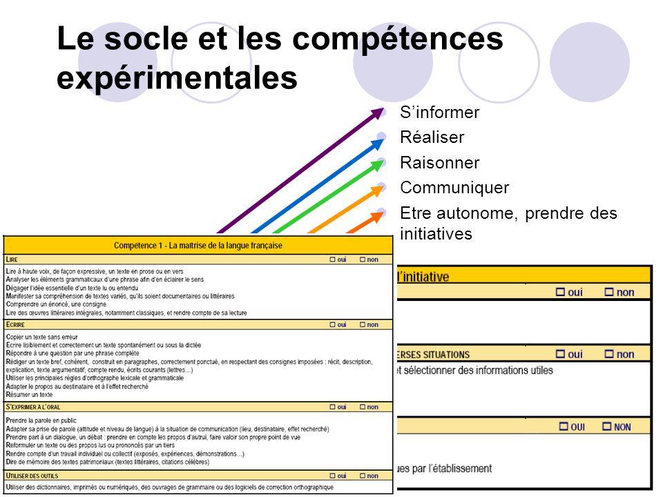 Formation et évaluation par compétences dans le cadre des activités expérimentales Au cœur de lenseignement en collège, en lycée professionnel, en lyc