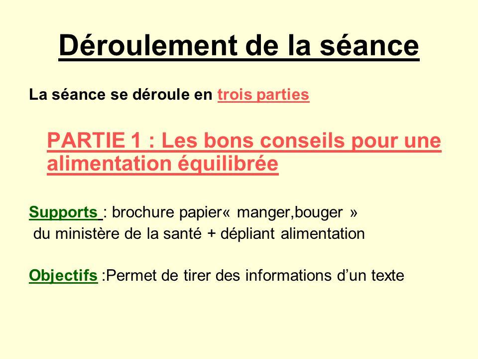 PARTIE 1 : LES BONS CONSEILS POUR UNE ALIMENTATION EQUILIBREE A partir de la brochure page 26 et 27 et du document, répond à ces questions : Que signifie PNNS ?...................................................................................................................