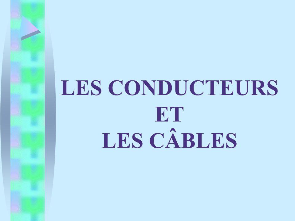 Désignation harmonisée CENELEC Construction spéciale: : câble rond H: câble méplat divisible H2: câble méplat « non divisible » Tension nominale: 03: 300V maxi 05: 500V maxi 07: 700V maxi 1: 1000V maxi Type de normalisation: H: câble harmonisé A: câble dérivé dun type national N: câble dun type national autre que reconnu Symbole du mélange isolant: R: caoutchouc naturel ou équivalent V: polychlorure de vinyle (PVC) X: polyéthylène réticulé (PR) H05VV --F3 G 2,5 Symbole du mélange gaine: R: caoutchouc naturel ou équivalent V: polychlorure de vinyle (PVC) X: polyéthylène réticulé (PR ) Nature du métal de lâme: : cuivre A: aluminium Symbole de lâme conductrice: U: âme rigide massive ronde R: âme rigide câblée ronde S: âme rigide câblée sectorale W: âme massive sectorale F: âme souple classe 5 K: âme souple classique H: âme extra-souple classe 6 Composition du câble: 1) Nombre de conducteurs 2) × : sans conducteur PE G: avec conducteur PE 3) Section des conducteurs en mm²