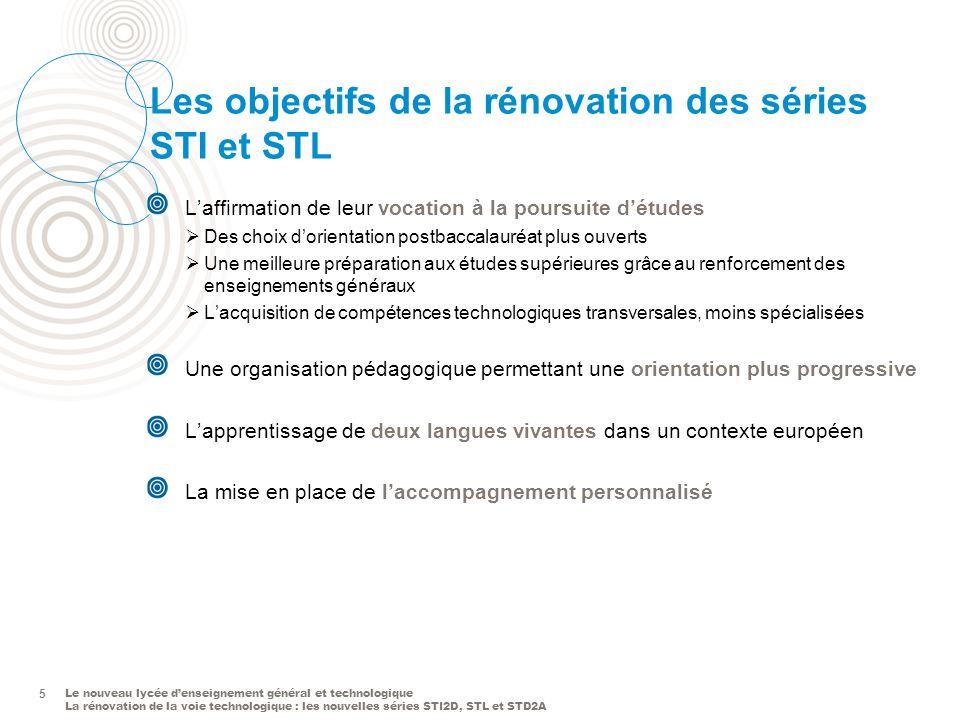 Le nouveau lycée denseignement général et technologique La rénovation de la voie technologique : les nouvelles séries STI2D, STL et STD2A 5 Les object