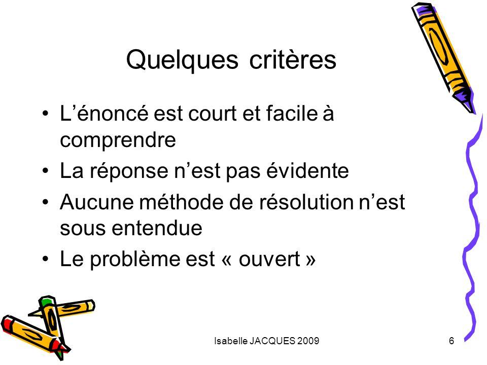 Isabelle JACQUES 200917 Organisation du débat Débat « privé » : temps de réflexion des élèves.