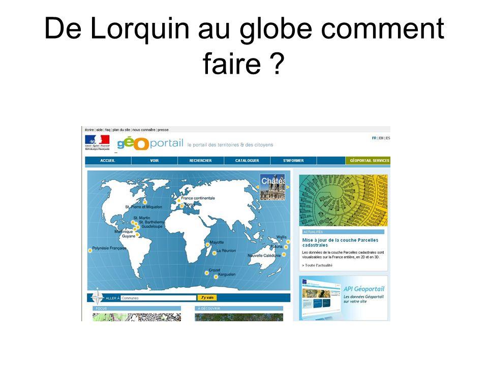 De Lorquin au globe comment faire ?