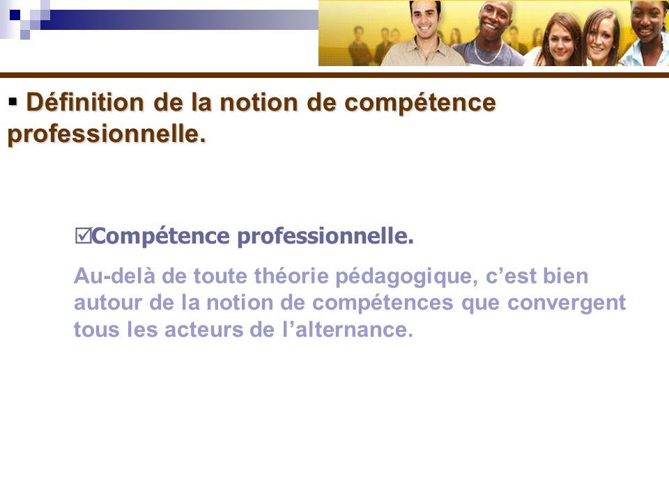 Définition de la notion de compétence professionnelle. Définition de la notion de compétence professionnelle. Compétence professionnelle. Au-delà de t