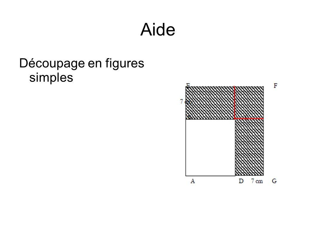 Aide Découpage en figures simples