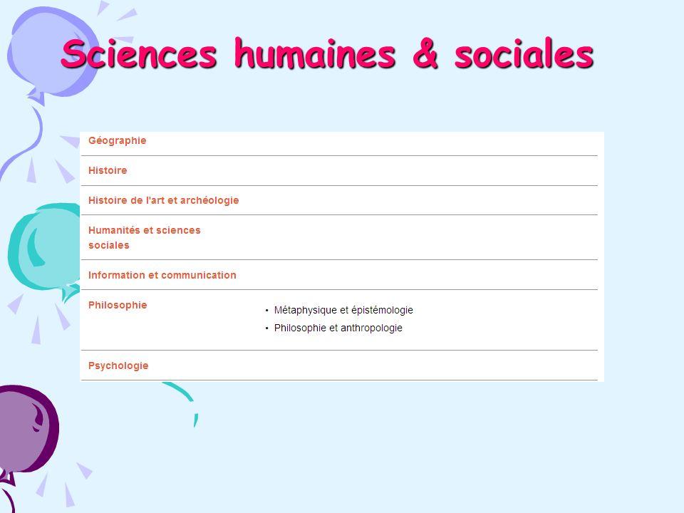 Sciences humaines & sociales