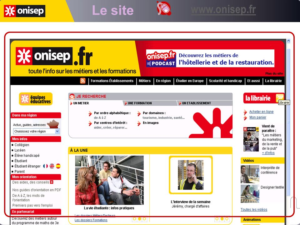 Le site www.onisep.fr