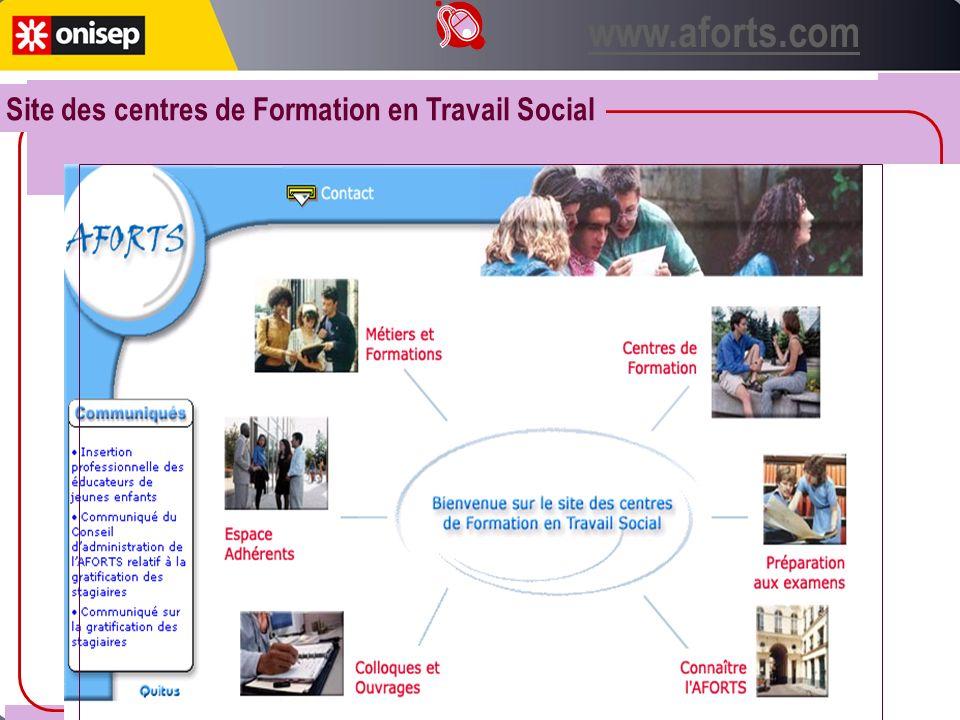 Site des centres de Formation en Travail Social www.aforts.com