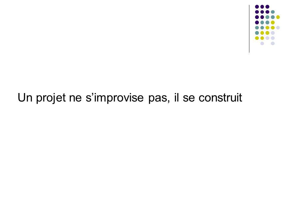Un projet ne simprovise pas, il se construit