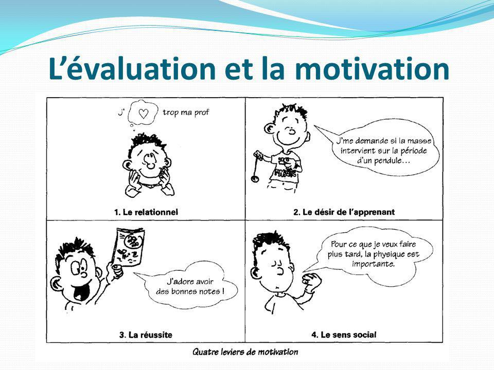Lévaluation et la motivation