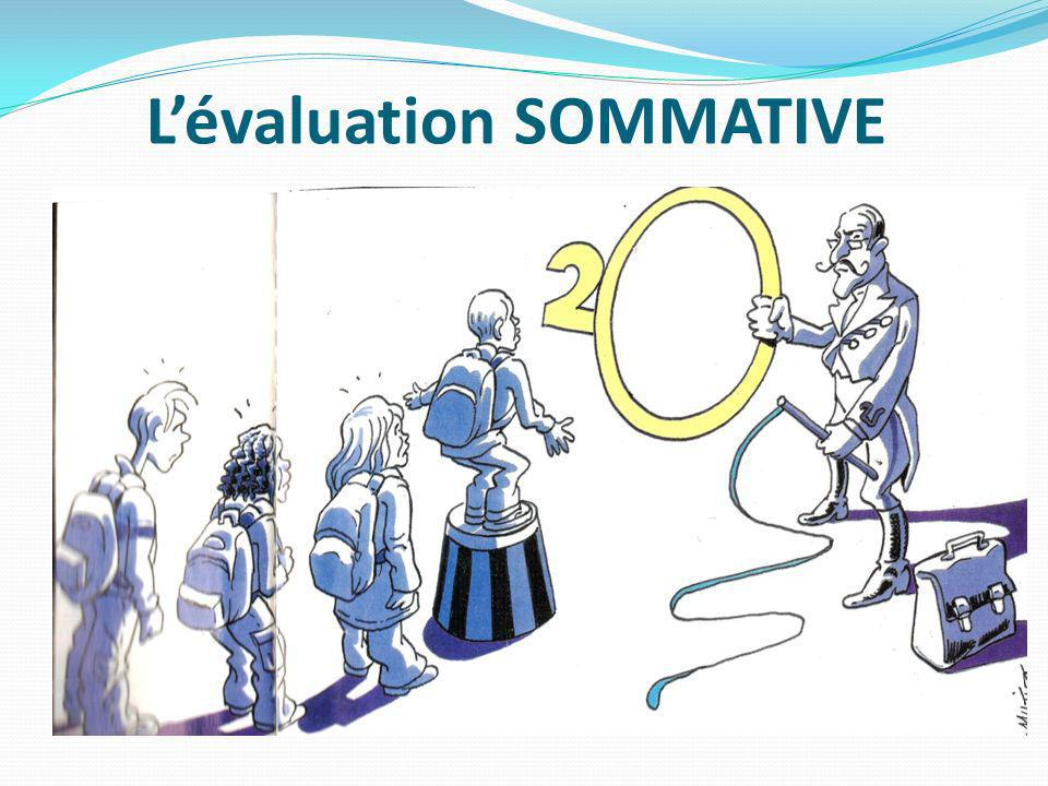 Lévaluation SOMMATIVE