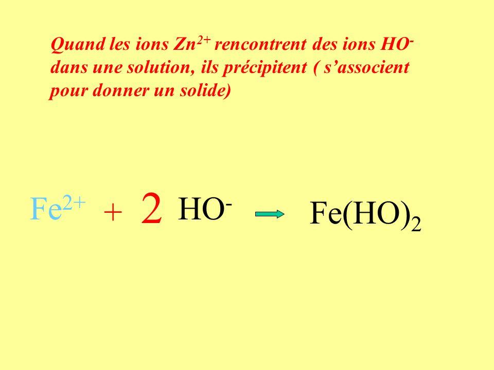Précipité vert dhydroxyde de fer II Expérience