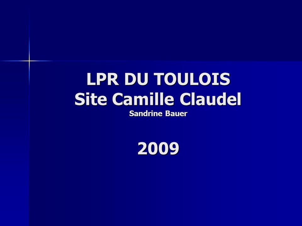 LPR DU TOULOIS Site Camille Claudel Sandrine Bauer 2009