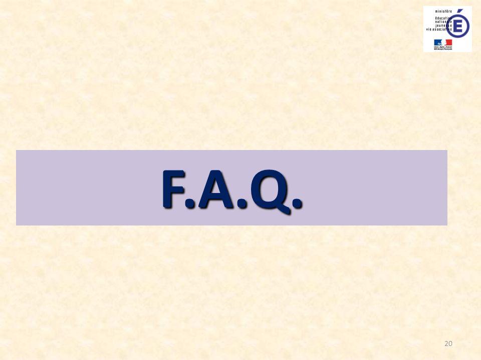 20 F.A.Q.