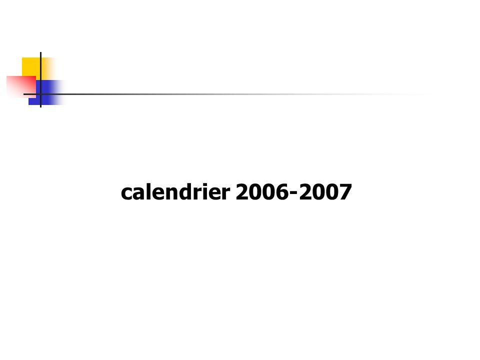 calendrier 2006-2007