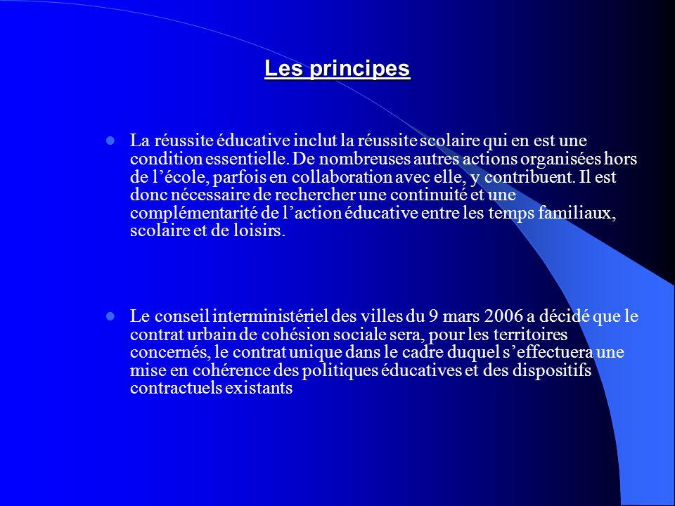 Les principes La réussite éducative inclut la réussite scolaire qui en est une condition essentielle.