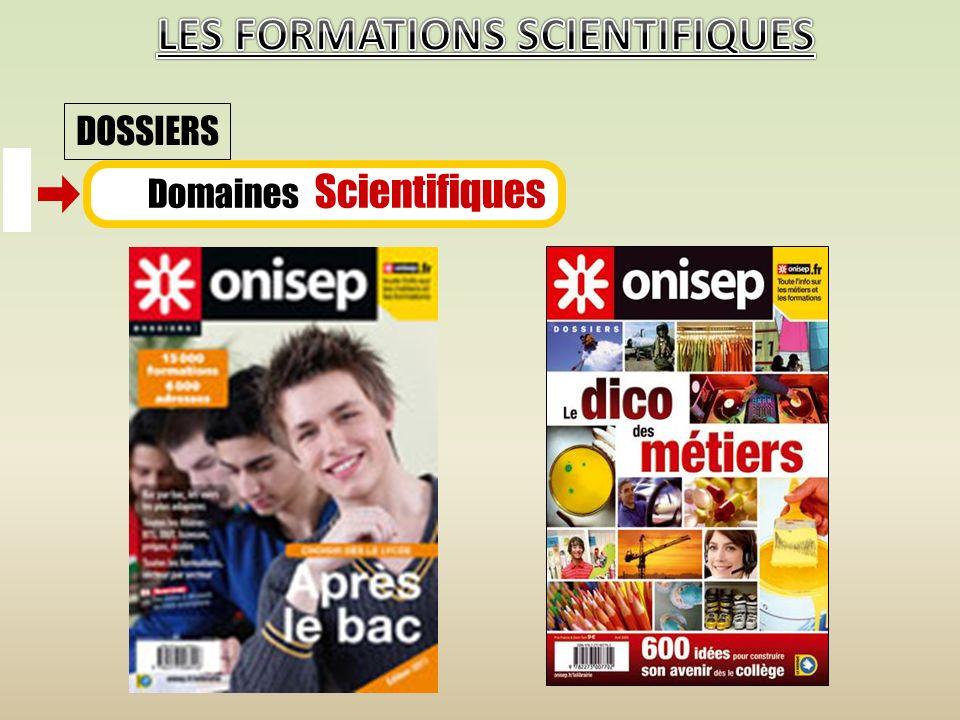 Domaines Scientifiques DOSSIERS