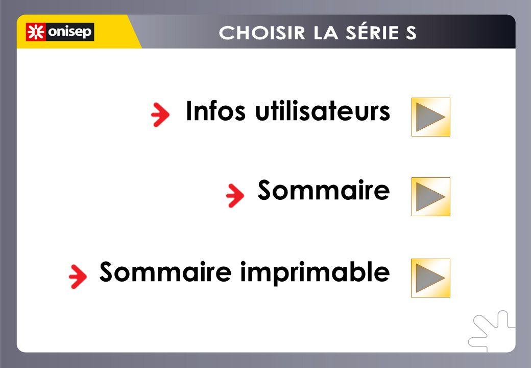 Infos utilisateurs Sommaire Sommaire imprimable