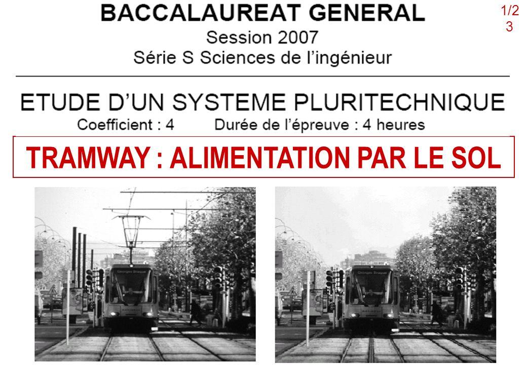 TRAMWAY : ALIMENTATION PAR LE SOL 1/2 3