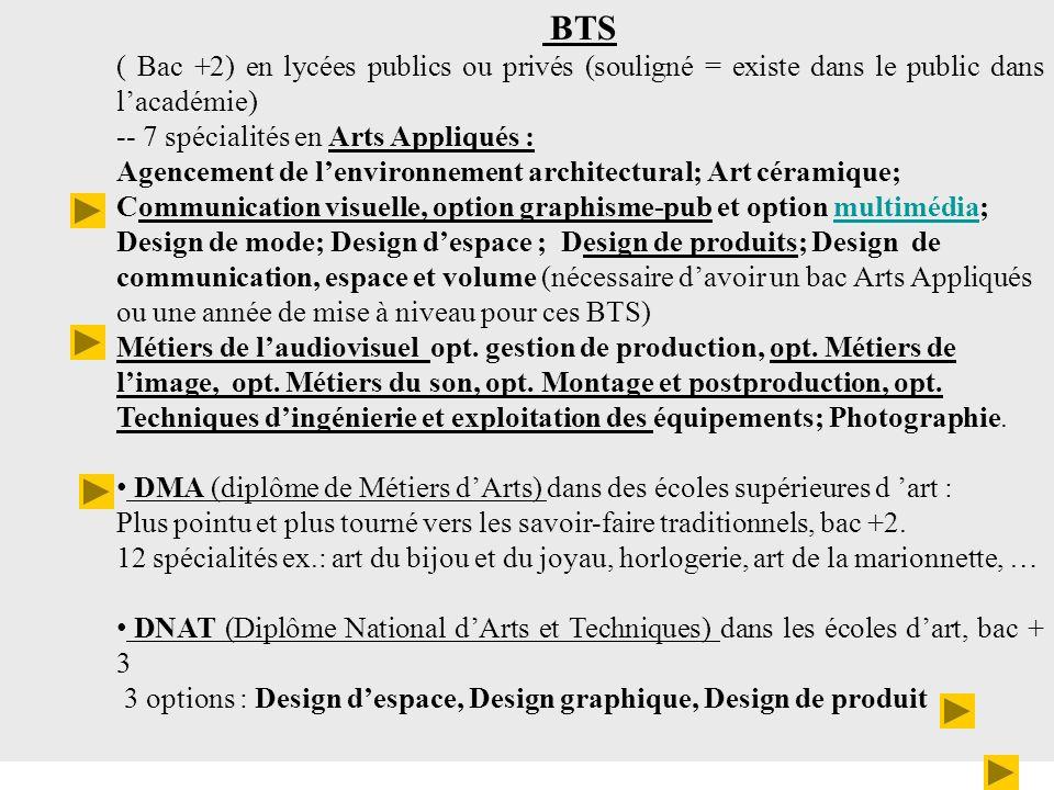 Les débouchés Cette formation permet une insertion professionnelle comme graphiste, concepteur créatif, exécutant dans les agences de publicité, les studios de création graphique ou multimédia, dans les ateliers P.A.O.