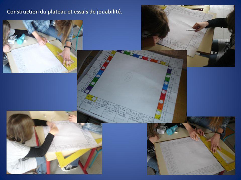 Construction du plateau et essais de jouabilité.