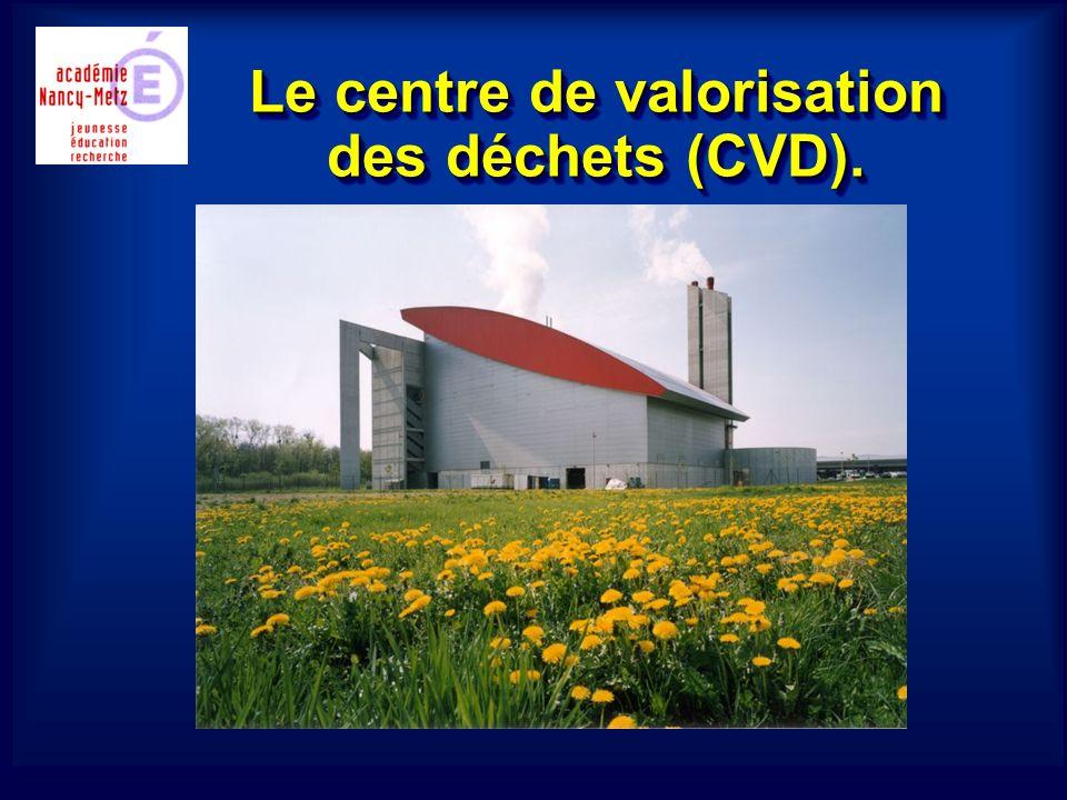 Le centre de valorisation des déchets (CVD).