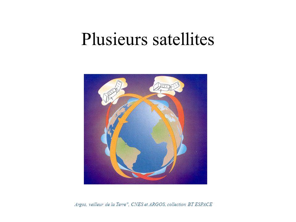 Plusieurs satellites Argos, veilleur de la Terre