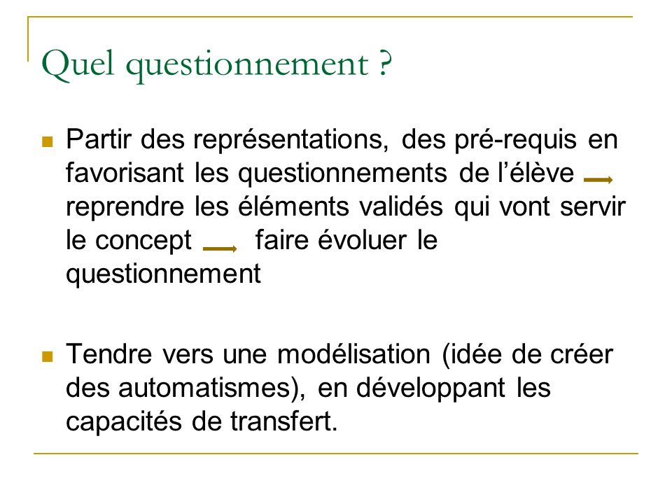 Quel questionnement .
