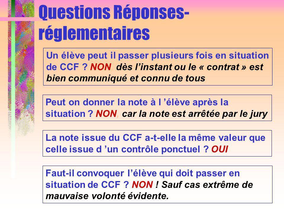 Questions Réponses- réglementaires Un élève peut il passer plusieurs fois en situation de CCF .