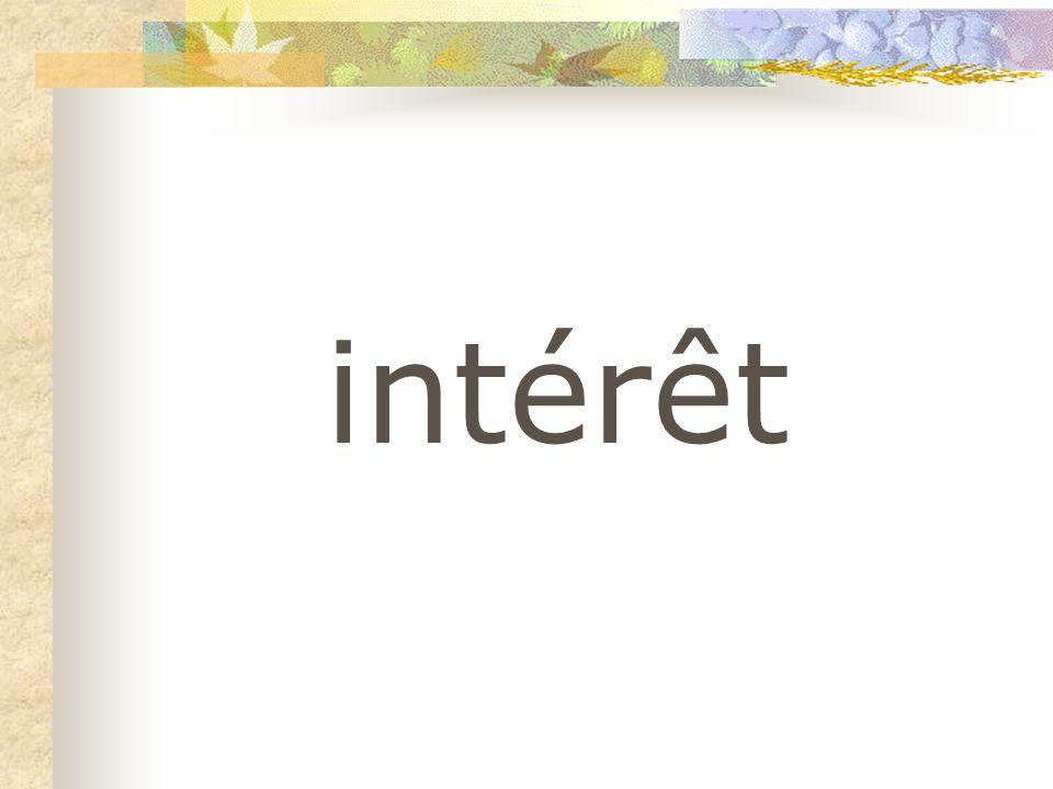 intérêt