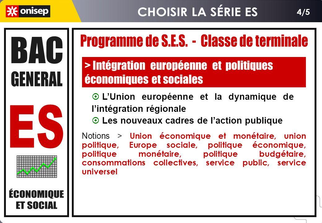 Série ES - SES - Enseignement de spécialité - Session 2007 > SUJET A