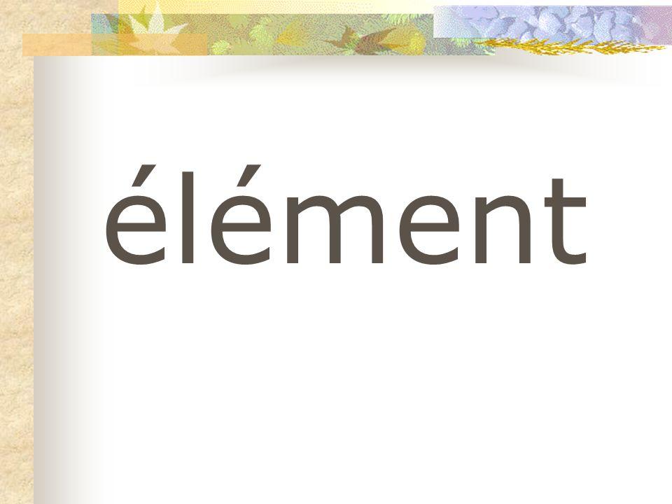élément